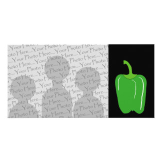 Green Bell Pepper. Whole. Card