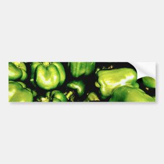 Green Bell Peppers Bumper Sticker