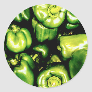 Green Bell Peppers Classic Round Sticker