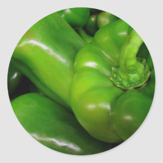 Green Bell Peppers Gift Range Classic Round Sticker