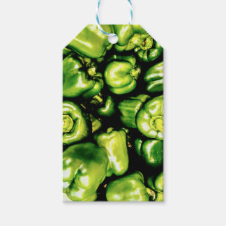 Green Bell Peppers Gift Tags