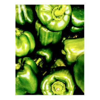 Green Bell Peppers Postcard