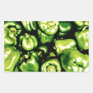 Green Bell Peppers Rectangular Sticker