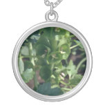 Green Bells Of Ireland (Moluccella Laevis) flowers Personalized Necklace