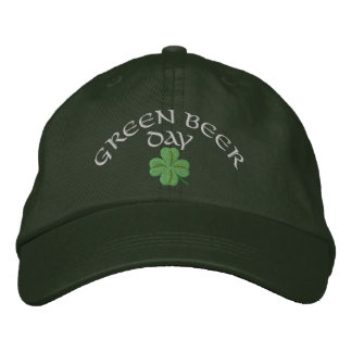 Green ber day St Patrick's Embroidered Hats
