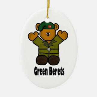 Green Beret Teddy Bear Christmas Ornament
