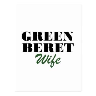 Green Beret Wife Postcard