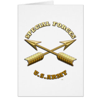 Green Berets Branch Insignia Card