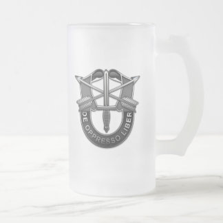 Green Berets DUI Frosted Glass Beer Mug