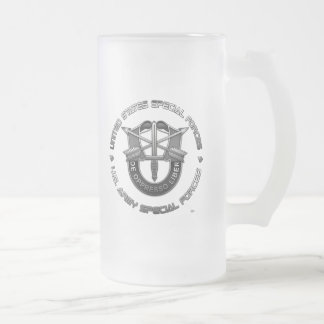 Green Berets DUI Special Edition Frosted Glass Beer Mug