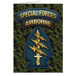 Green Berets SSI Special Edition Card