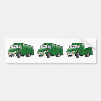 Green Beverage Truck Cartoon Bumper Sticker