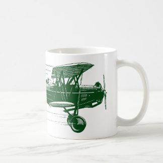 Green Bi Plane Coffee Mug