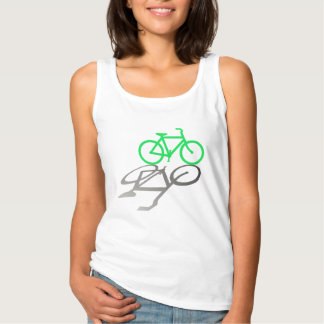 Green Bicycle and Shadow. Tank Top