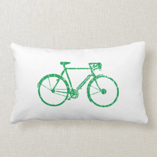 green bicycle . biking cool lumbar pillow