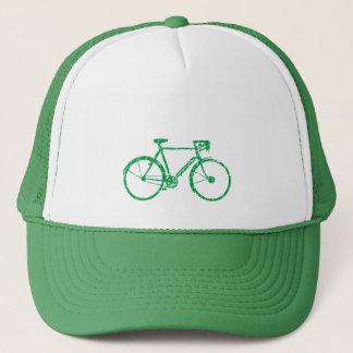 green bicycle . biking cool trucker hat