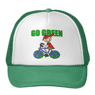 Green Bicycle Gift Mesh Hat