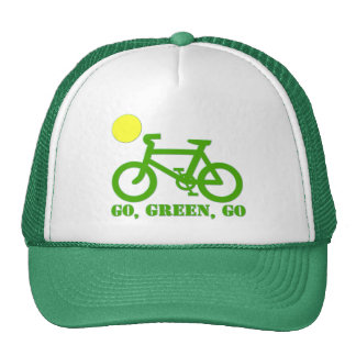 Green Bicycle Trucker Hat
