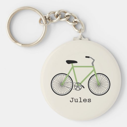 Green Bicycle Keychain