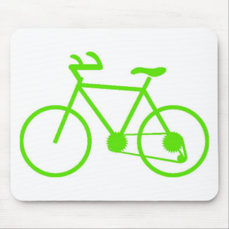 Green Bicycle Mouse Pad Custom Designed