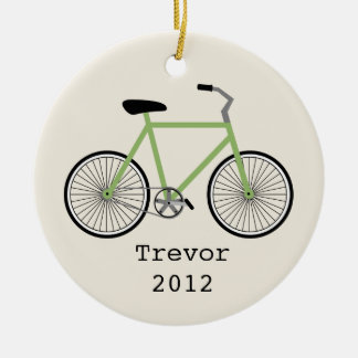 Green Bicycle Personalized Ornament