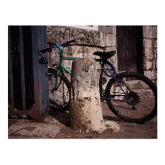 Green Bicycle Postcard