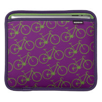 green bicycles pattern sleeve for iPads