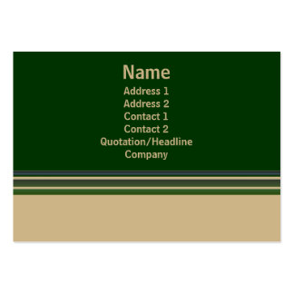 Green biege stripes business card templates