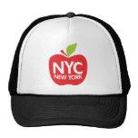 Green Big Apple NYC Mesh Hats