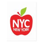 Green Big Apple NYC Postcard