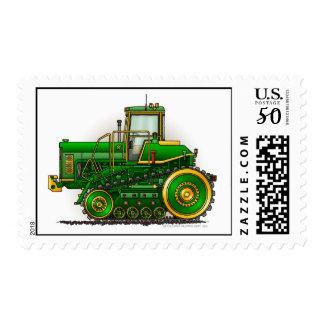 Green Big Dozer Tractor Stamps