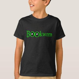 Green Big Eyed Bookworm! T-shirt