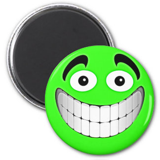 Green Big Green Smiley Face Magnet