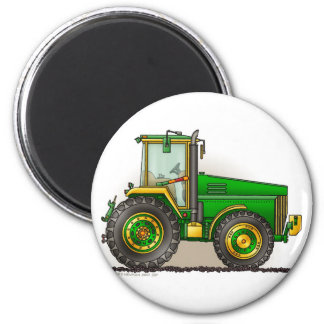 Green Big Tractor Magnets