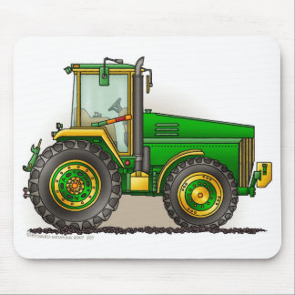 Green Big Tractor Mouse Pads