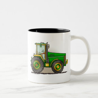 Green Big Tractor Mugs