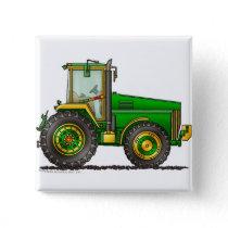Green Big Tractor Pins