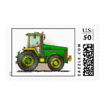Green Big Tractor Stamps