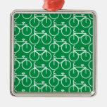green bike christmas ornament