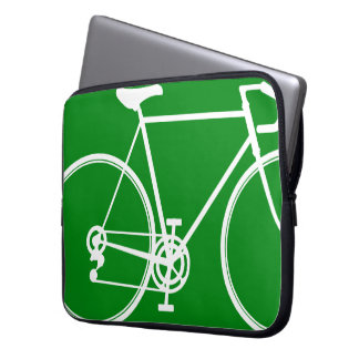 Green bike design Laptop Sleeve