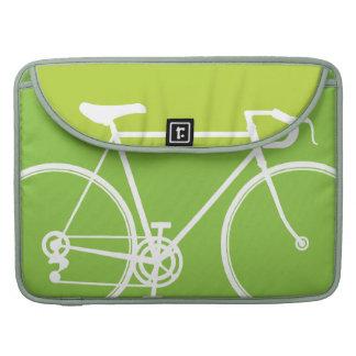 "Green Bike design Macbook Pro 15"" Laptop Case Sleeves For MacBooks"