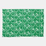 green bike hand towel