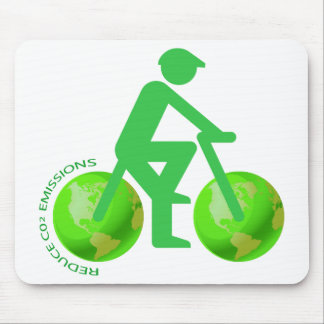 Green Bike Mouse Pads