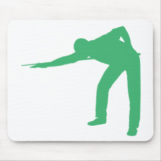 Green Billiards Player Mouse Pad