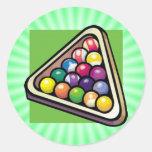 Green Billiards; Pool Classic Round Sticker