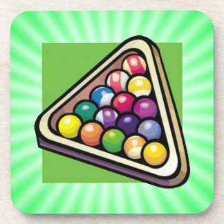 Green Billiards; Pool Beverage Coaster