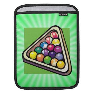 Green Billiards Pool iPad Sleeves