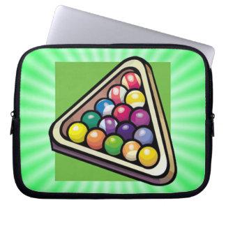 Green Billiards Pool Laptop Sleeves