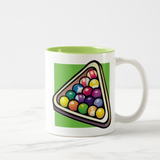 Green Billiards; Pool Mug
