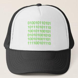 Green Binary 01 - GeekShirts Trucker Hat